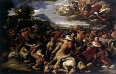The Battle between Lapiths and Centaurs, Luca Giordano