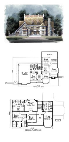 Greek Revival House Plan 72032 | Total Living Area: 3276 sq. ft., 4 bedrooms and 3.5 bathrooms. #greekrevivalhouse