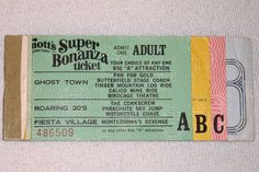 1975 Knott's Berry Farm Ticket Book (partial)   i remember the tickets, i guess my parents must have kept the book. lol  used to love  Jungle Island