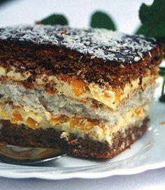 Polish Desserts, Polish Recipes, Cookie Desserts, No Bake Desserts, Sweet Recipes, Cake Recipes, Dessert Recipes, Sweets Cake, Cupcake Cakes