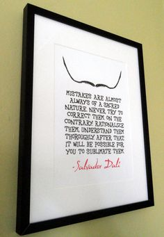 Salvador Dali Quotes Framed Typography by TheWordAssociation, £19.99