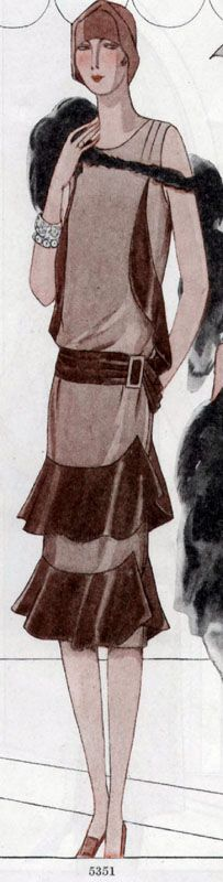 1928 Drop-waist Flapper Dress Pattern ~ McCall 5351