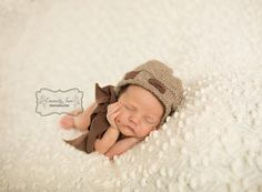 Newborn Baby Girl Bonnet Knit Baby Bonnet by PhotoPropsByMissLene, $25.00