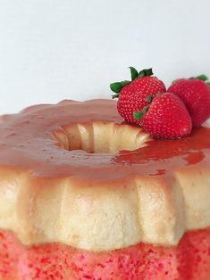 Sugar Art, Sweet Cakes, Flan, Panna Cotta, Cheesecake, Strawberry, Fruit, Ethnic Recipes, Desserts