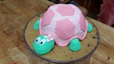 Turtle cake for a little girl