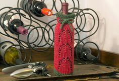 Ravelry: Chesapeake Bottle Gift Bag pattern by Kathy North