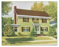 "Cheery green house exterior from ""The Color Book"" c. 1920s Laurelhurst Craftsman Bungalow: Misc. Period Pictures"