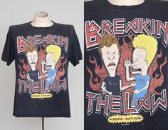 90s Beavis and Butthead MTV Breakin the Law by RoslynVTGTradingCo