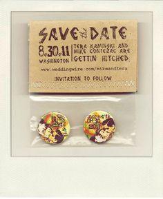 Tarjetas Save the date - Fotos: Green Wedding Shoes
