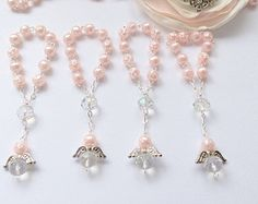 40 pz Angel perla rosari rosari di Mini prima di AVAandCOMPANY