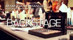 AMANDA EMMANUEL - AUTUMN/WINTER 2012 | BACKSTAGE. Check out behind the scenes footage from our recent runway show