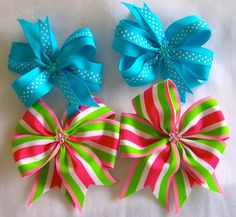 some hair bows I made for my girls