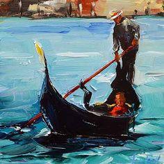 "Daily Paintworks - ""Venedig"" - Original Fine Art for Sale - © Jurij Frey"