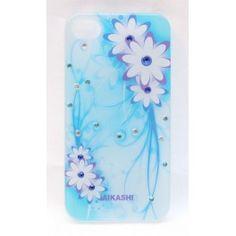 Vaaleansininen kukkakuvio iPhone 4 suojakuori. Iphone 4, Apple Iphone