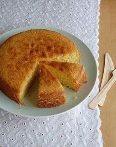 bolo de coco e azeite de oliva