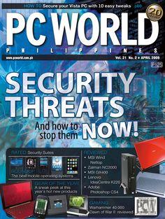 PCWorld Philippines April 2009 cover