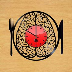 Don't Eat My Brain Handmade Vinyl Record Wall Clock Fan Gift - VINYL CLOCKS