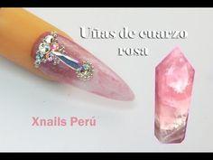 Uñas Acrílicas Efecto Cuarzo Rosa con Gel / Xnails Peru - YouTube