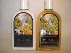 Crabtree & Evelyn Large Shower Gel + Lotion Patchouli . Patchouli, a small fragrant herb native to the Philippines and Indonesia, produces an oil with a characteristic woody perfume. Patchouli's popularity began in mid-19th century England and continues unabated today. This is not your 60's flashback headshop patchouli...  Rare 250 ml  Large 8.5, 8.8 oz