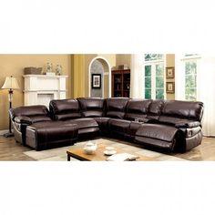Furniture Of America Estrella Brown Sectional Las Vegas Online Lasvegasfurnitureonline