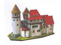 A Romantic 14th Century Castle Free Building Paper Model Download - http://www.papercraftsquare.com/a-romantic-14th-century-castle-free-building-paper-model-download.html#BuildingPaperModel, #Castle