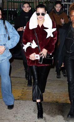 Leaving the Monse andOscar de la RentaShowduring New York Fashion Week,wearingVera Wang Eyewear sunglasses .