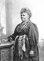 Fanny Cochrane Smith (1834-1905), a full-blood Aboriginal Tasmanian, considered to be the last fluent speaker of a Tasmanian language. Her wax cylinder recordings of songs are the only audio recordings of any of Tasmania's indigenous languages.
