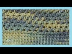 punto rete all'uncinetto tunisino - crochet tunecino -