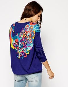 Image 1 of ASOS Sweater With Peacock