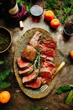 Whole Roasted Beef Tenderloin. A detailed tutorial on how to roast a whole beef tenderloin (filet mignon) complete with wine pairings and serving suggestions. Easy Meat Recipes, Primal Recipes, Lamb Recipes, Baby Food Recipes, Cooking Recipes, Healthy Recipes, Unique Recipes, Delicious Recipes, Yummy Food