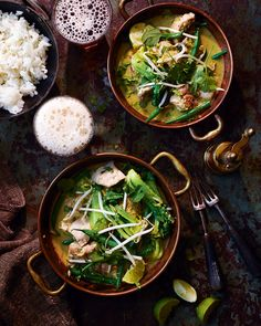 Making your own paste drastically improves the flavour of a home-made curry. Sara Barton, founder of Brewster's Brewery, likes to serve her Thai green curry recipe alongside a light hoppy beer to complement the heat and flavour.
