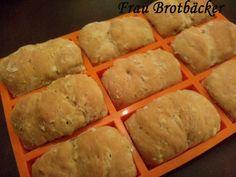 Minibrote mit Ebly - Weizenzwirbli - gesund und lecker!