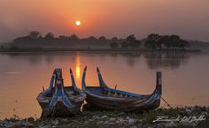 Tramonto sul Lago Taug Tha Man, Birmania. by Emanuele Del Bufalo (23)
