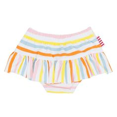 SookiBaby Lolly Striped Ra-Ra Skirt Nappy in Orange, Blue, Yellow and Pink. Perfect for any occasion! This item can be mixed and matched with baby's. Baby Bear Cub, Bear Cubs, Blue Yellow, Orange, Mix N Match, Gym Shorts Womens, Swag, Childhood, Australia