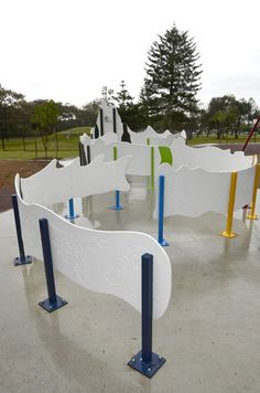 Smart idea for accessible playgrounds: Broadbeach - wheelchair accessible maze