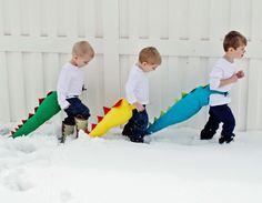 This is a simple, fun, toy for kids. I designed these tails with two straps that wrap around their waist with velcro in front making it easy for them to get them on and off themselves.
