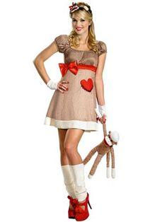 Deluxe Ms Sock Monkey Adult | Wholesale Classic Halloween Costumes for Women