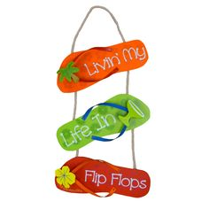 Margaritaville Lifestyle- so easy to do with dollar store flip flops!