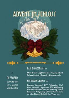 "Plakat ""Advent im Schloss"" | 2018 Advent, Graphics, Art, Poster, Art Background, Graphic Design, Kunst, Printmaking, Performing Arts"