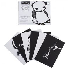 Wee Gallery Black and White Art Cards by AlexandAlexa