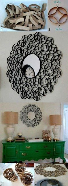 Wall Art Using Toilet Paper Rolls | DIY Fun Tips