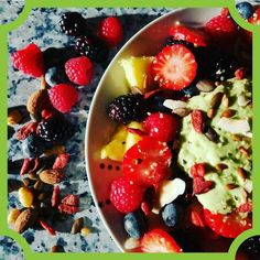 Lets start a fresh day and  bring the mood up with a good breakfast hemp seed breakfast by @lina.ism  #Pineapple #blueberries #strawberries #raspberries  #blackberries #hempseeds #gojyberries  #sunflowerseeds #pinenuts and of course my favorite part is avocado and kiwi puree on top.  Very tasty and #healthfreaks #tastybreakfast #hippie #hippies #healthrecipes #nutrition #fitfood #healthylifestyles