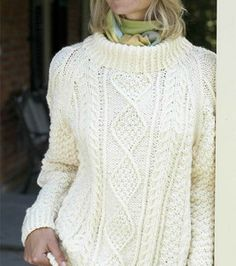 Free Pattern ~ His Cableknit Pullover (knit)