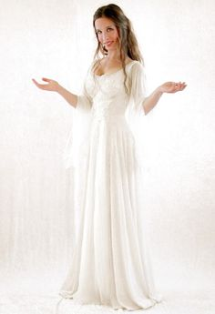Medieval and Celtic Wedding Gowns | The Angel...It's just so pretty. This is exactly what I love, reminiscent of the medieval era, but slimmer and modern
