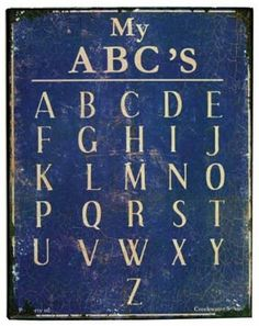 antique ABCs...