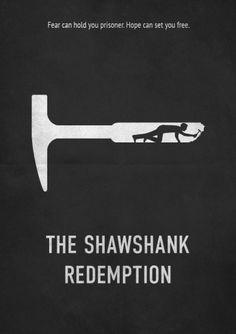 The Shawshank Redemption (1994) ~ Minimal Movie Poster by E. Novazheev #amusementphile