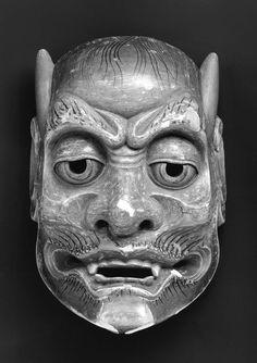 No mask of the Yakan type, Japanese, Edo period, 18th century