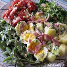 Σαλάτα νισουάζ Potato Salad With Egg, Easy Potato Salad, Nicoise Salad, Cobb Salad, Potato Salad Dressing, The Kitchen Food Network, Salads For A Crowd, Salad Recipes Video, Greek Recipes