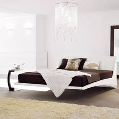 24 Amazing Floating Bed Design Ideas For Cozy Sleeping Ideas Contemporary Bedroom, Modern Bedroom, Contemporary Furniture, Unique Furniture, Bedroom Set Designs, Bed Designs, Bedroom Ideas, Floating Bed, Design Minimalista