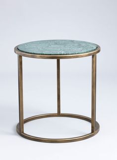 Siena side table finished in Florentine Gold with Verde Jade #marble top.
